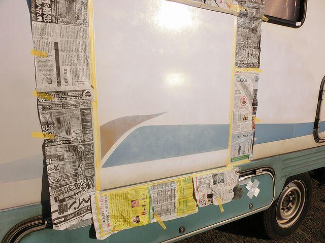 キャンピングカー 塗装