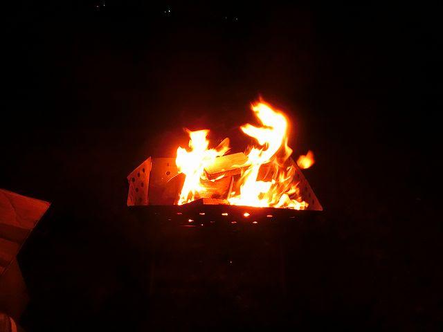 霞ヶ浦 焚き火