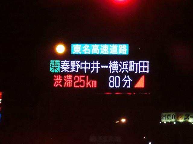 東名高速道路 渋滞