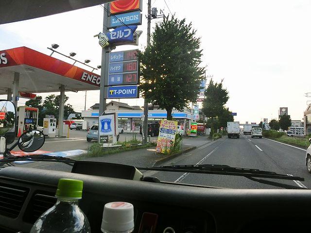 キャンピングカー ガソリン価格